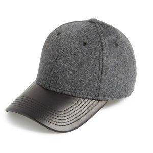 GENTS Unisex Leather Brimmed Baseball Cap